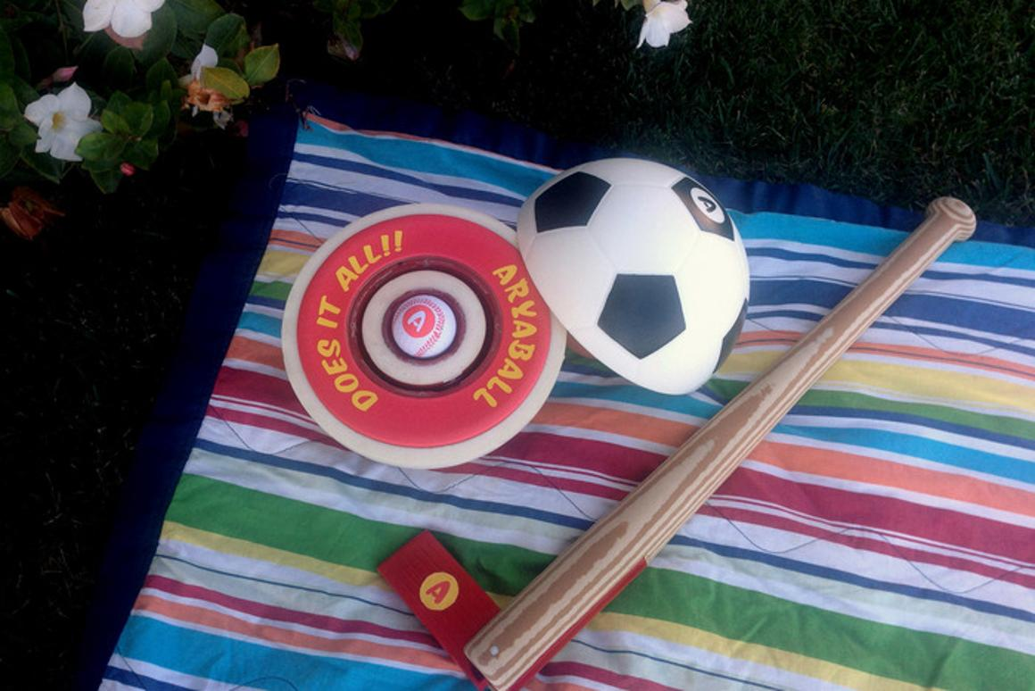 The AryaBall and AryaBat combo is meant to be the one toy needed for outdoor play