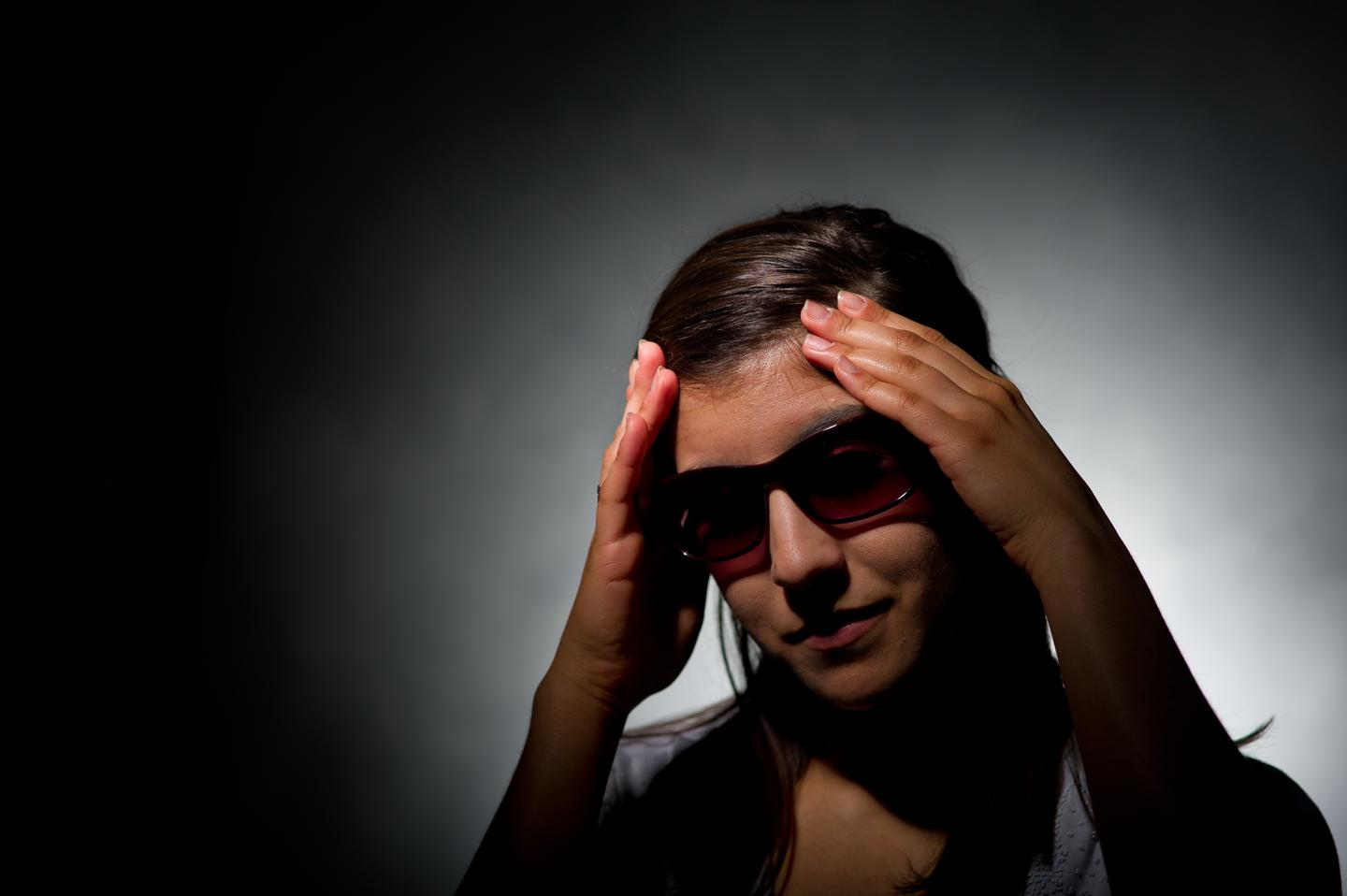 A team of scientists have discovered why wearing precision-tinted glasses helps reduce migraine headaches (Photo: G.L. Kohuth)
