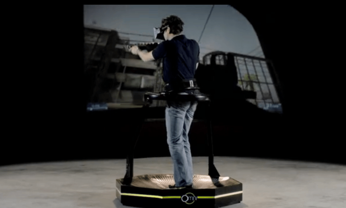 The Omni is an omnidirectional treadmill designed to provide a more immersive gaming experience