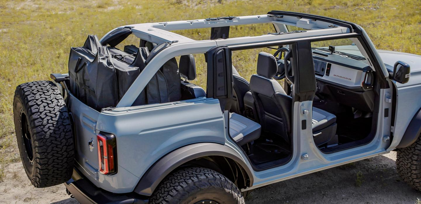 Every Bronco comes with frameless doors