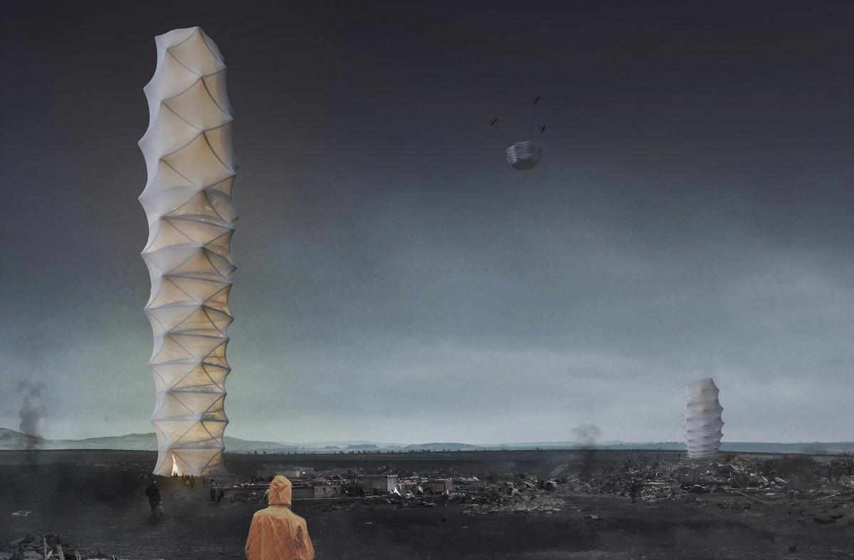 The winner of the2018 eVolo Skyscraper contest, designed by Poland's Damian Granosik, Jakub Kulisa, and Piotr Pańczyk, is a skyscraper concept dreamt up to bring relief to disaster-struck areas