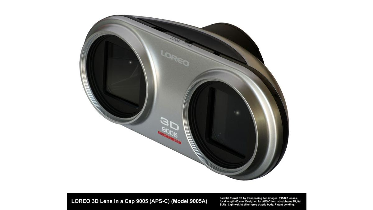 The Lens-in-a-Cap system captures two simultaneous images using matched lenses to the left and right for onward viewing via a Loreo 3D viewer