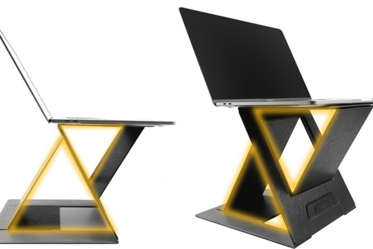 MOFT Z is made with a durable Z-shaped structure, featuring a triangle base support made from fiber-glass