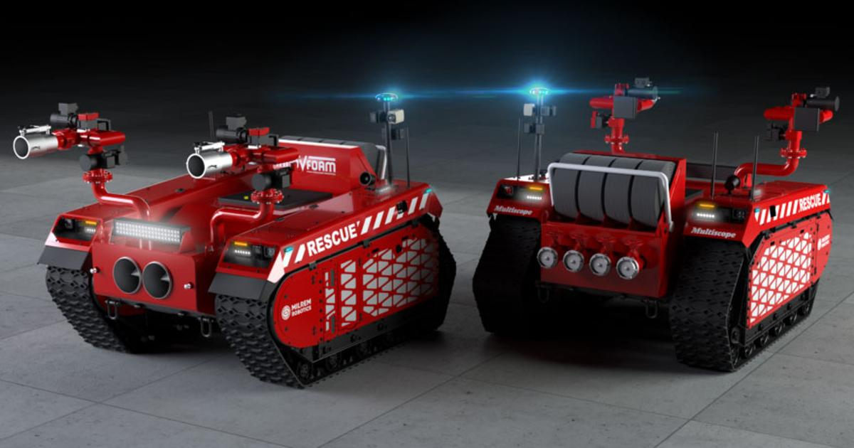 New foam-shooting robots to keep firefighters out of harm's way