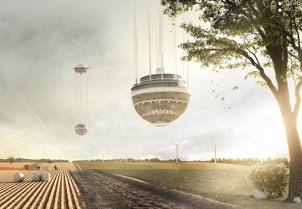 The Floating Tower, byPiotr Yurchanka, Alexey Kunko, Vladislav Sidorenko andDmitry Tkachuk, would restore the drained swamps of Belarus. The project is one of 27 honorable mentions in the 2019 eVoloSkyscraper Competition