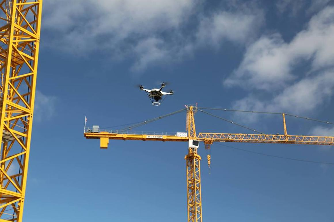 Drones are already proving incredibly efficient at aerial mapping on building sites, but are they capable of more? (Photo: Skycatch)