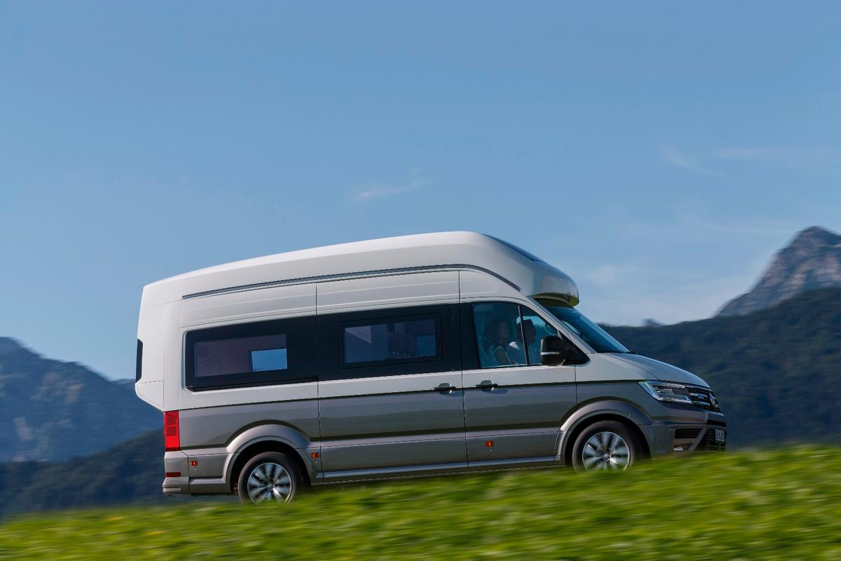 Not only is the Crafter a larger base than the Transporter, but VW has extended out the body in back, making room for a longitudinally mounted bed and a bathroom