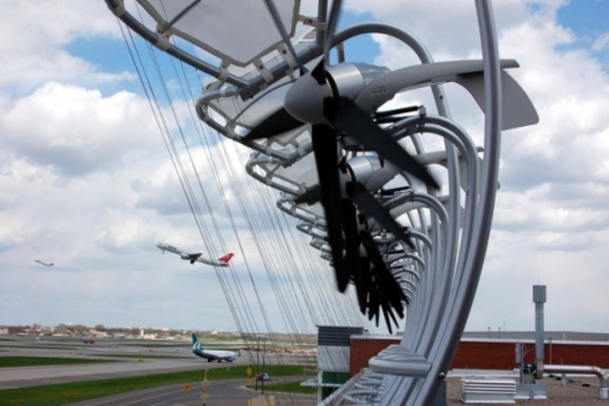 Minneapolis-St. Paul International Airport (MSP) has recently installed 10 wind-powered electricity generators