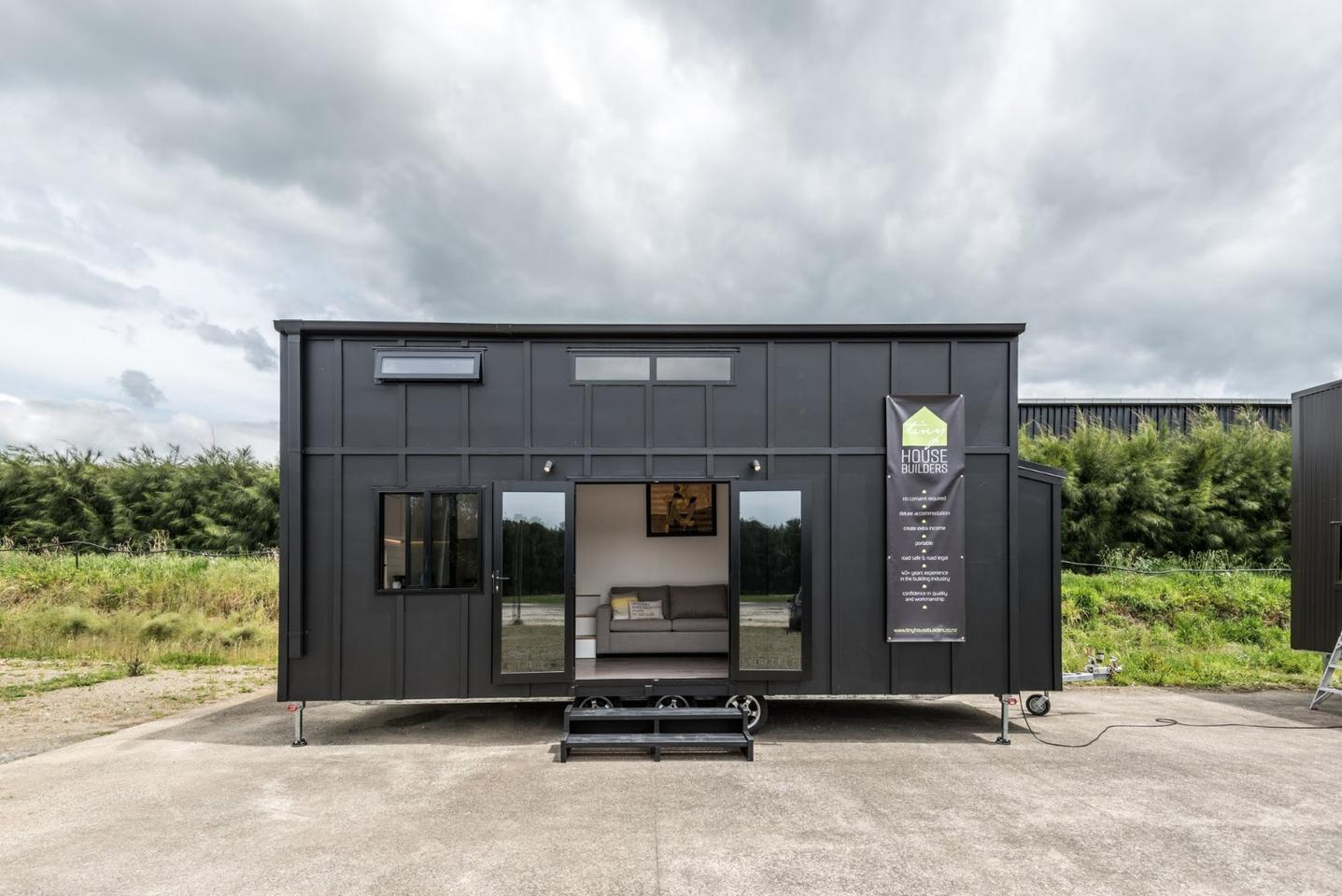 NewZealand-based and family run studio Tiny House Builders hasrecently launched its impressive and sophisticated Pohutukawa tinyhouse on wheels