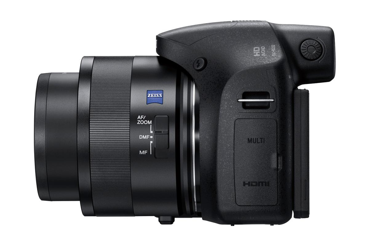 The Zeiss lens on the DSC-HX350 includes optical image stabilization