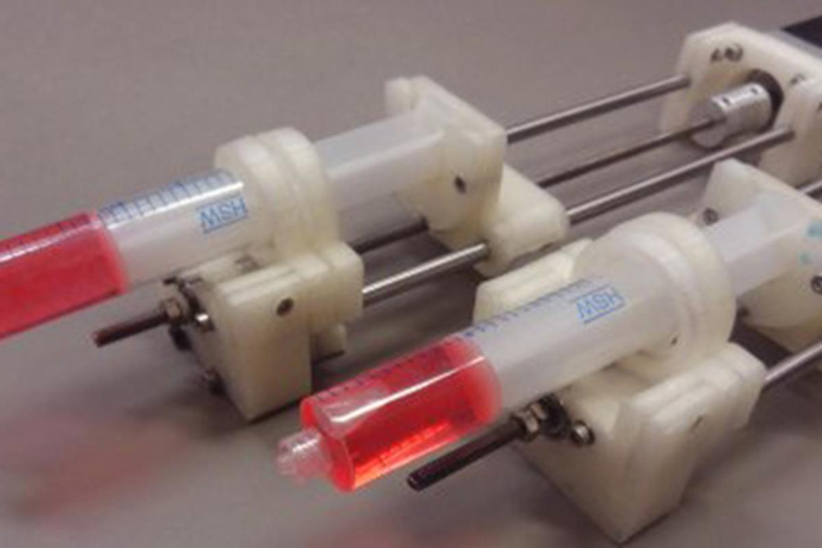 3D-printed syringe pumps produced at Michigan Technological University cost around US$50 apiece