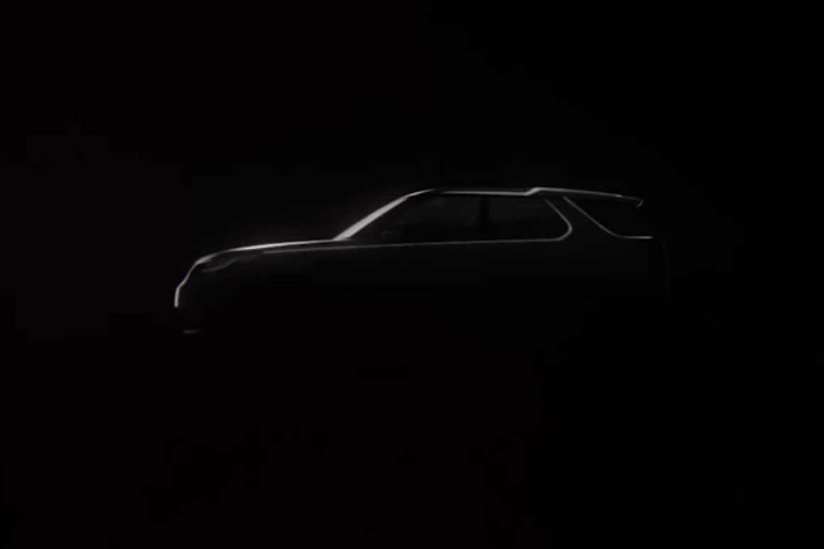 Teaser profile of the Land Rover Discovery Vision Concept