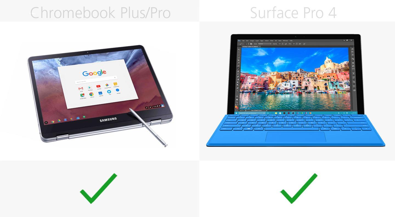 Samsung Chromebook Plus Pro Vs Microsoft Surface Pro 4