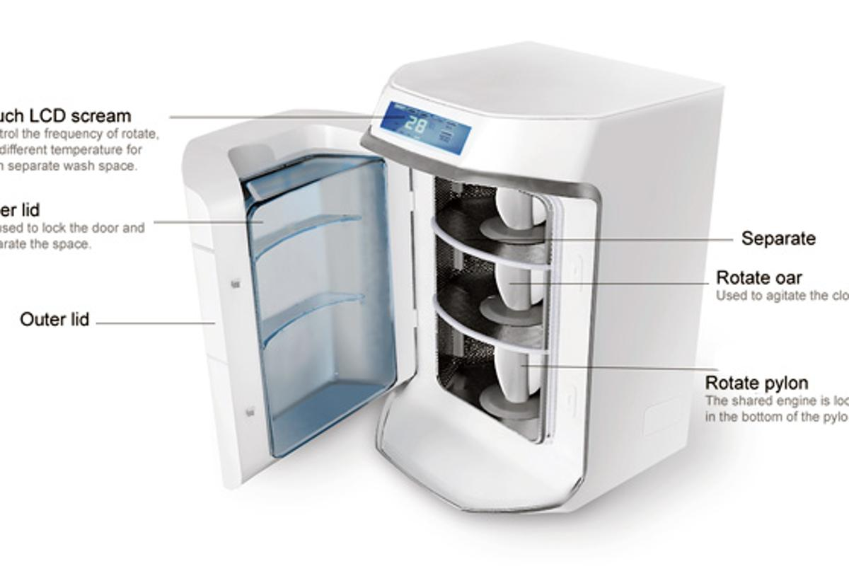 The Individual Washer design will let you wash all your laundry together regardless of fabric or color