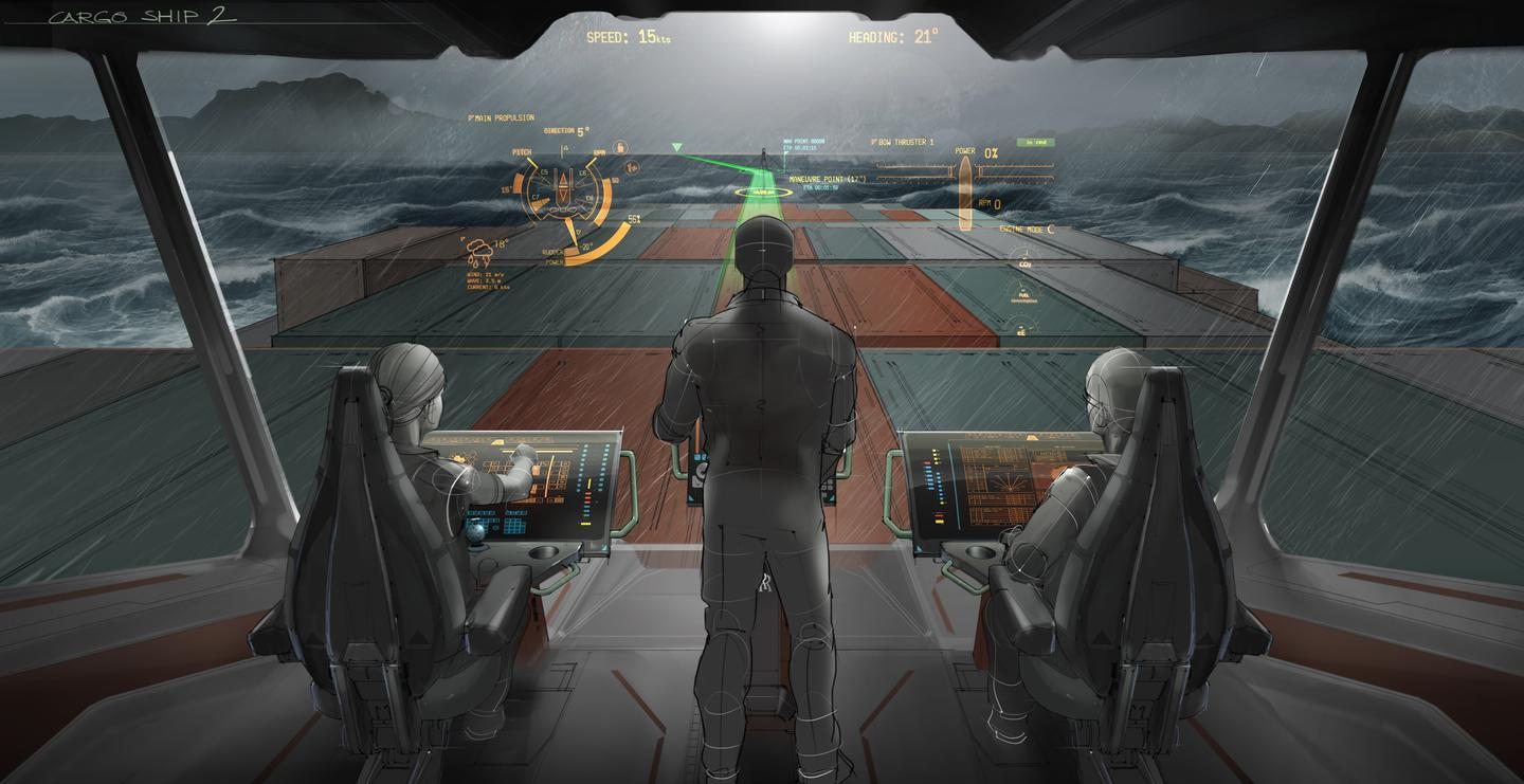 The windscreens of the ship of 2025 will be an augmented reality display