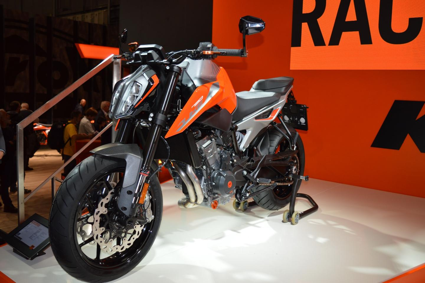 The new KTM Duke 790 unveiled at the 2017 EICMA Motorcycle Show