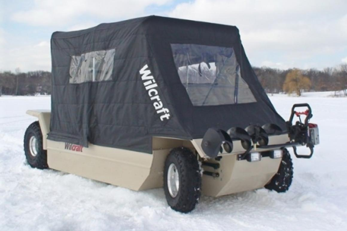 The Wilcraft amphibious ice-fishing vehicle