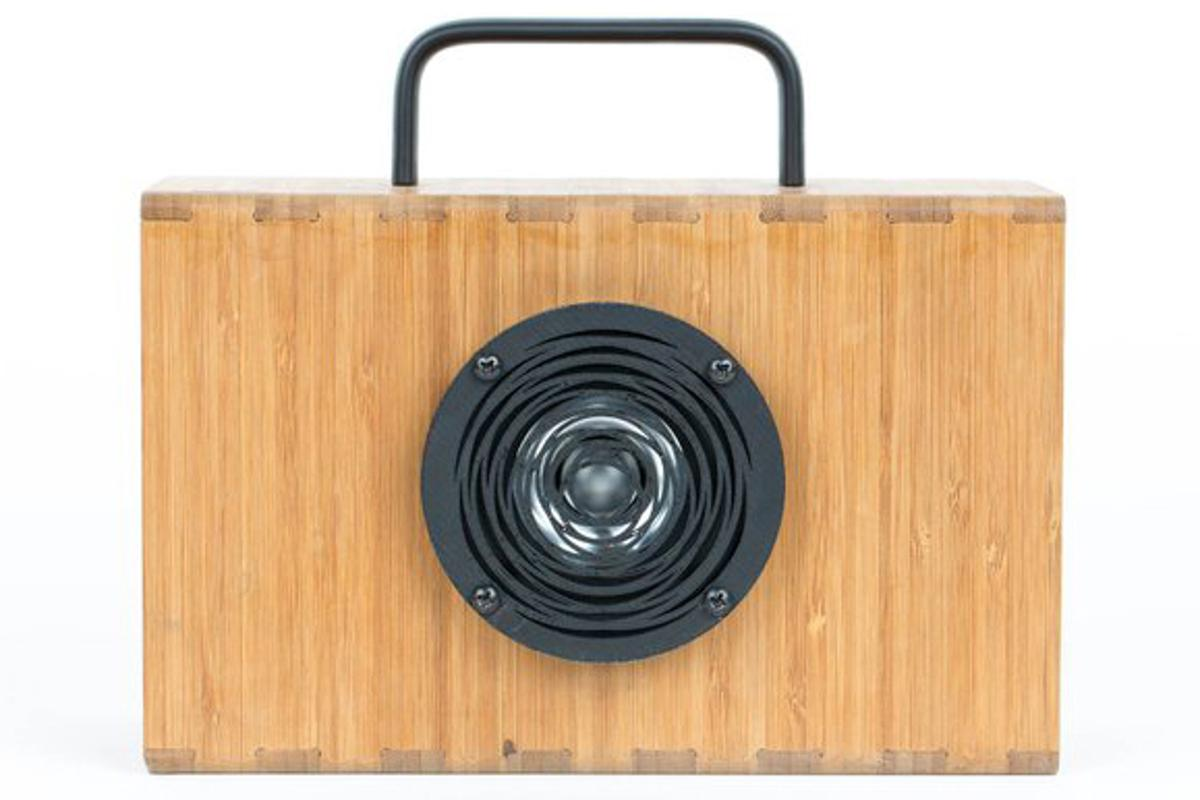 The supercapacitor-powered Hydrogen portable speaker from Blueshift recharges in five minutes