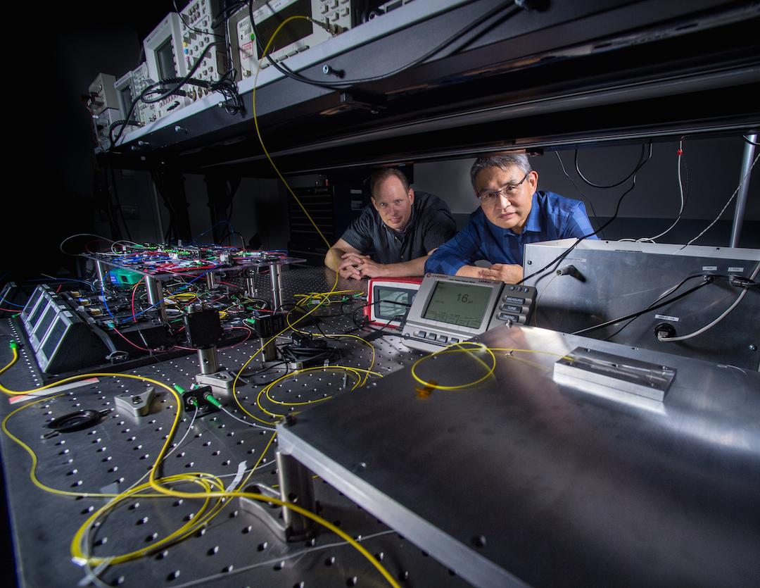 Mark Stephen and Tony Yu are part of the team behind the laser in NASA's new CO2 Sounder Lidar