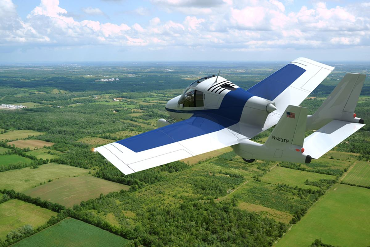 Terrafugia has released specifications and computer graphics of its next generation flying-car design at AirVenture 2010 (Image: Terrafugia)