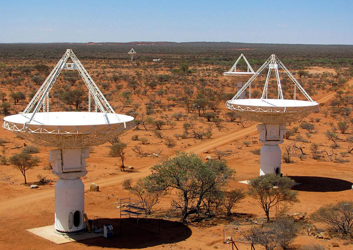 The West Australian ASKAP raido telescope array (Credit: Ant Schinckel, CSIRO)