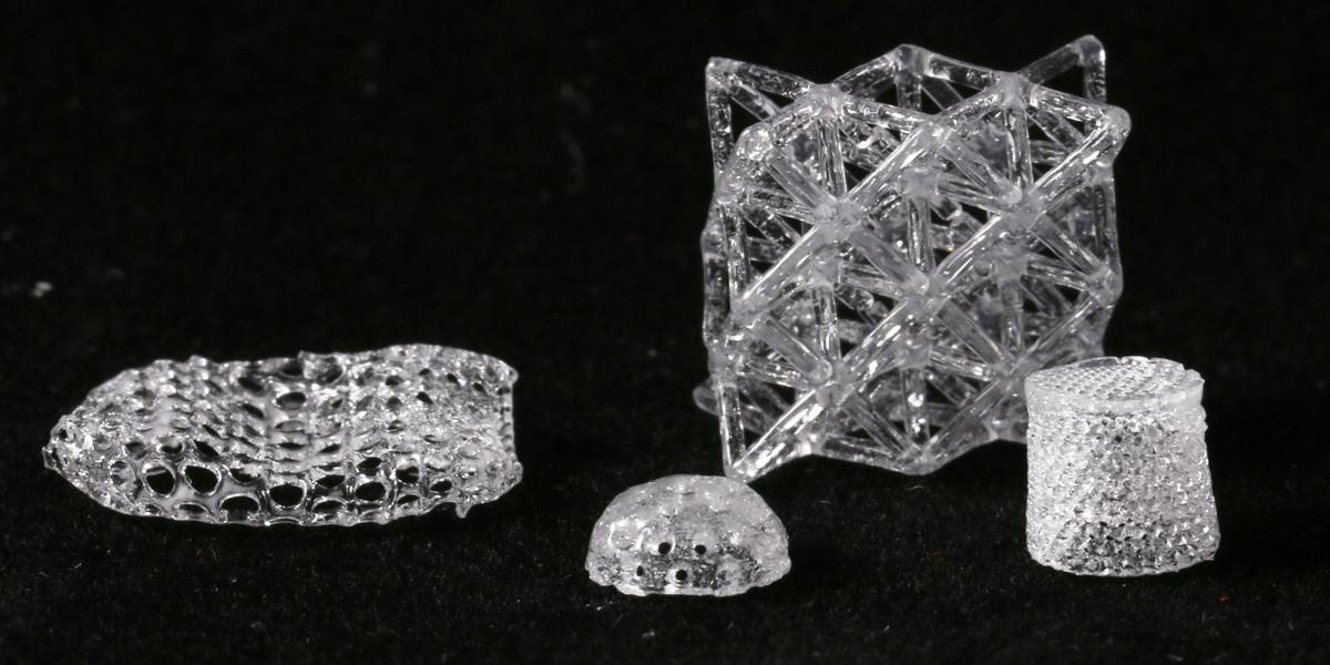 Examples of objects that have been created utilizing the new 3D-printing technique