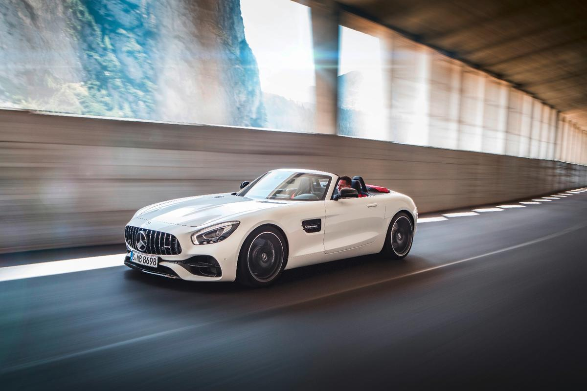 AMG has dropped the top on its gorgeous GT