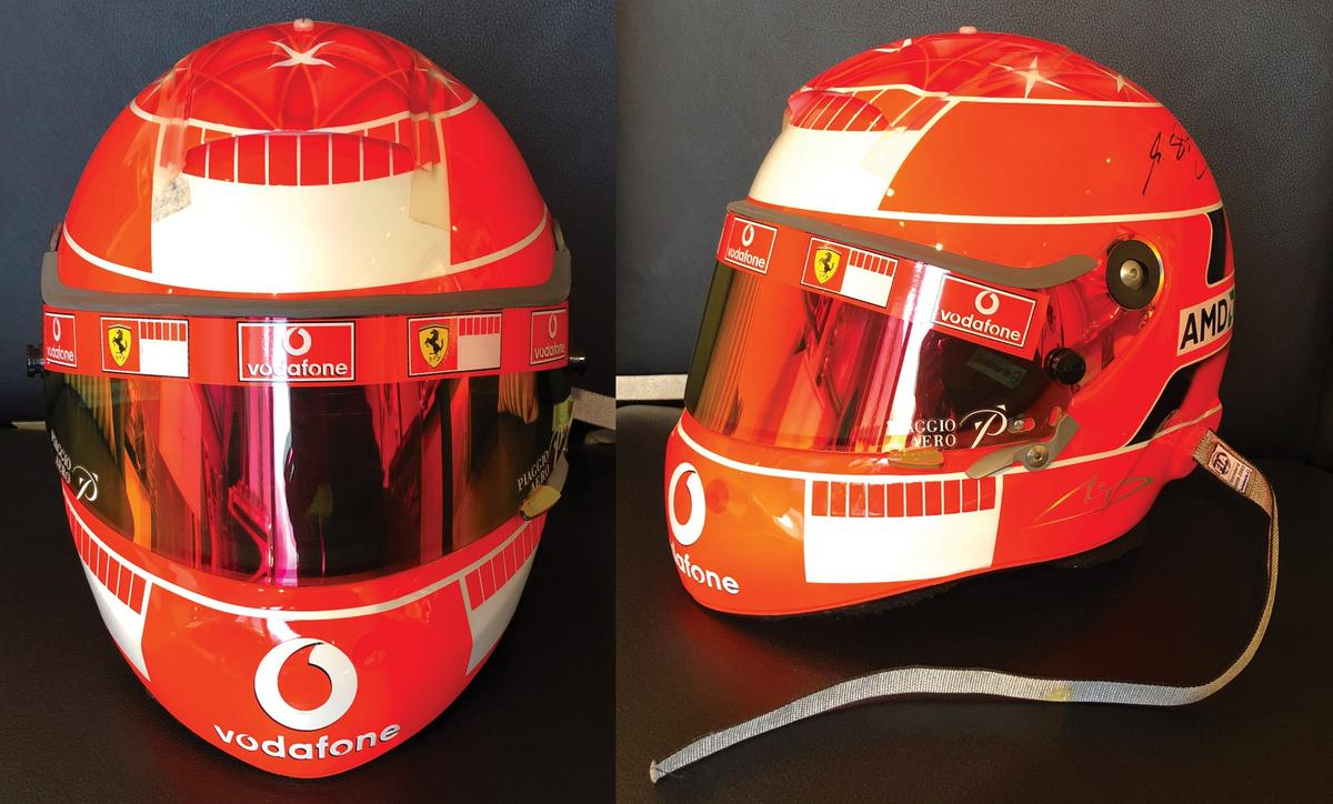 $71,688 | €63,000 | 2005 Michael Schumacher Ferrari Formula 1 Helmet |Auction Description: RM-Sotheby's