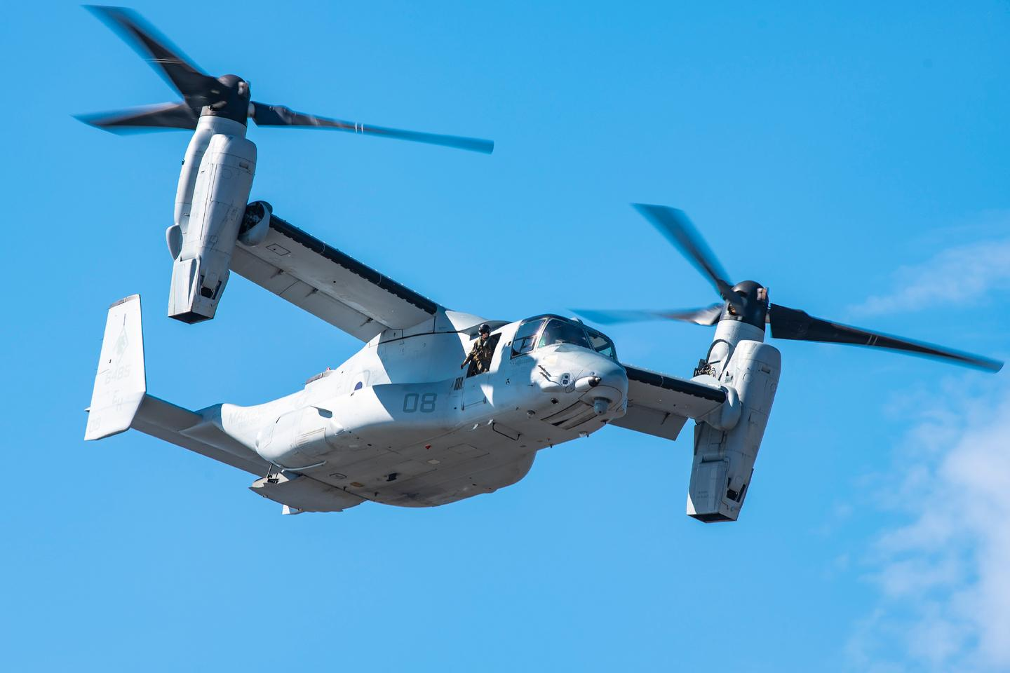 The Bell Boeing V-22 Osprey is the world's only in-service tiltrotor aircraft