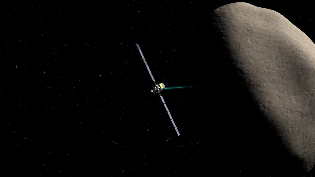 Artist's impression of Dawn orbiting the dwarf planet Ceres (Image: NASA/JPL-Caltech/UCLA)