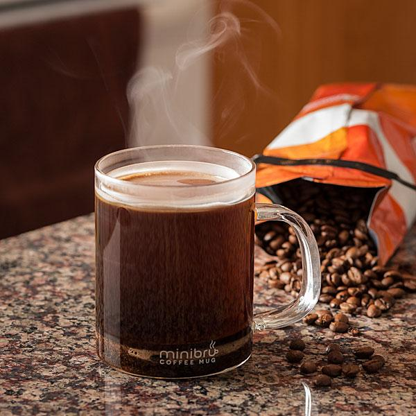 The glass mug is dishwasher-safe, while the cylinder and gasket need to be hand-washed