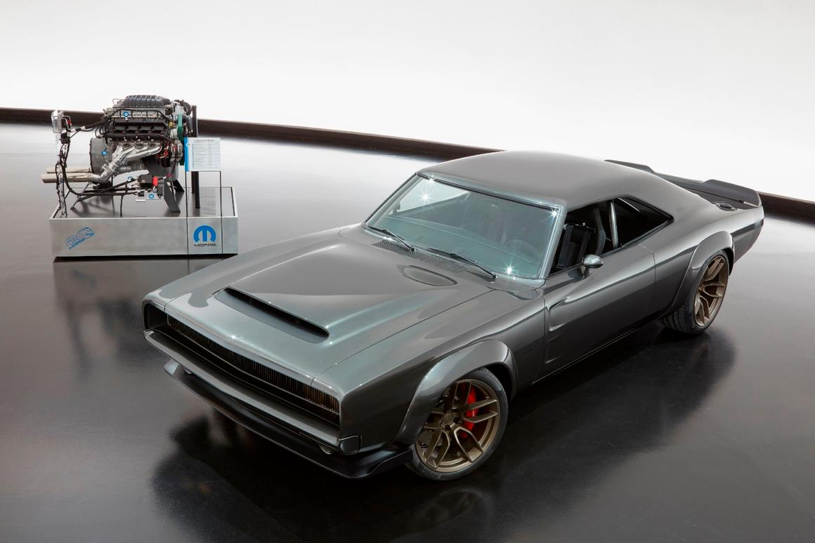 To showcase the Hellephant engine's capability, Mopar put it into this Chargerdemonstration vehicle