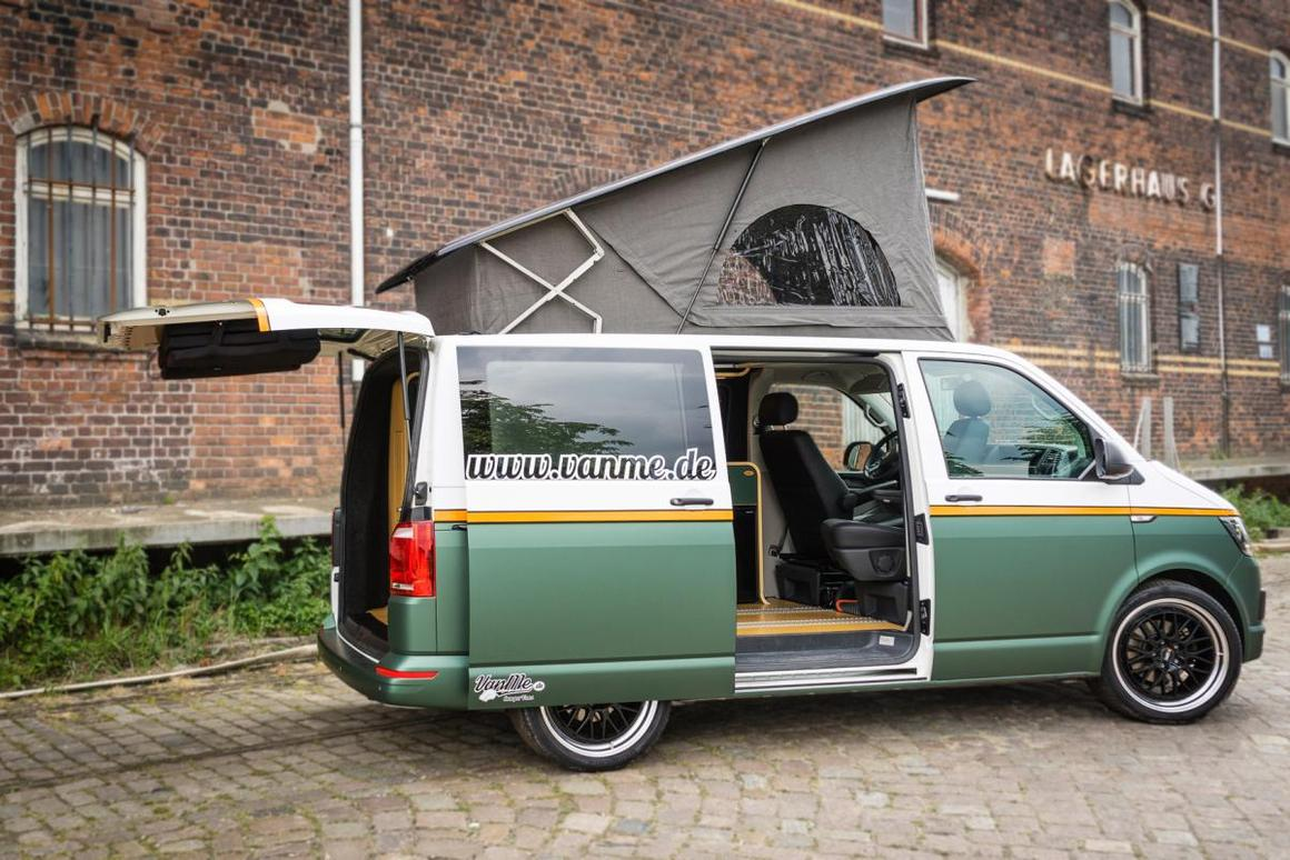 This VanMe is based on a 148-hp VW T6 with vibrant paint