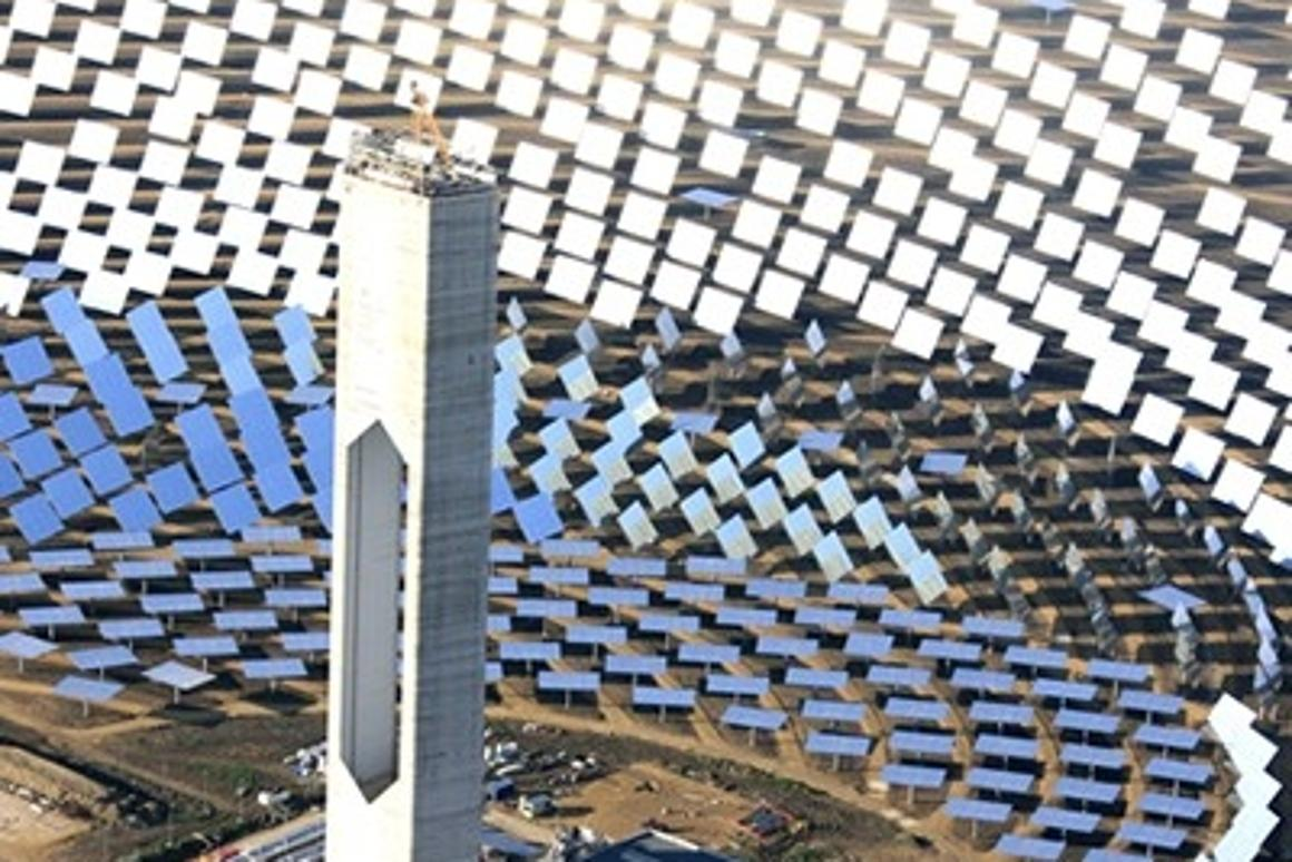 1.291 mirrored heliostats and a 54 story high tower the World's largest solar power tower plant located near Seville in Spain in now on line generating 20 megawatts (MW) of electricity, enough to supply 10,000 homes.