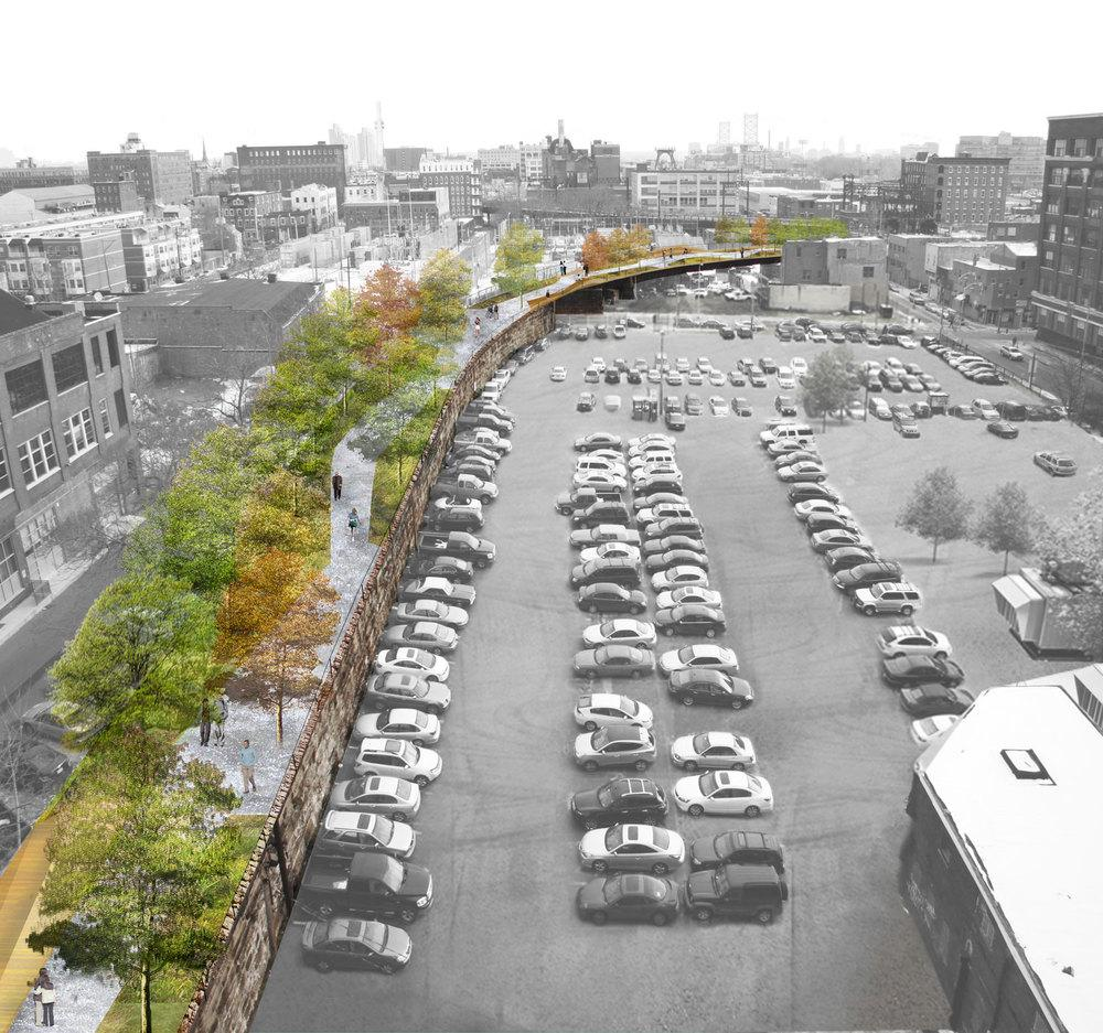 The Philadelphia Rail Park would span 50 city blocks and connect several neighborhoods
