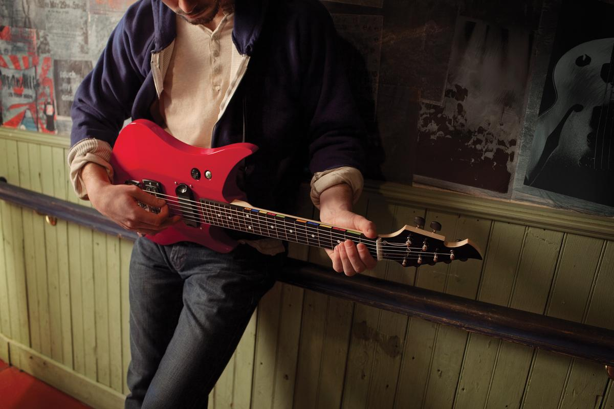 """Bernard Chui believes that """"there is something unmatchable about the feeling of an authentic guitar"""" so Seven45 Studios decided to make one its band game interface"""