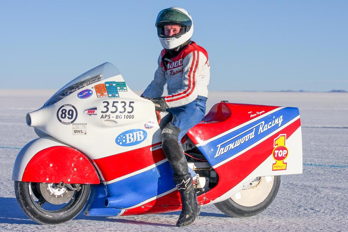Ralph Hudson, aboard the 300 mph Turbocharged GSX-R1000 on which he had his final crash