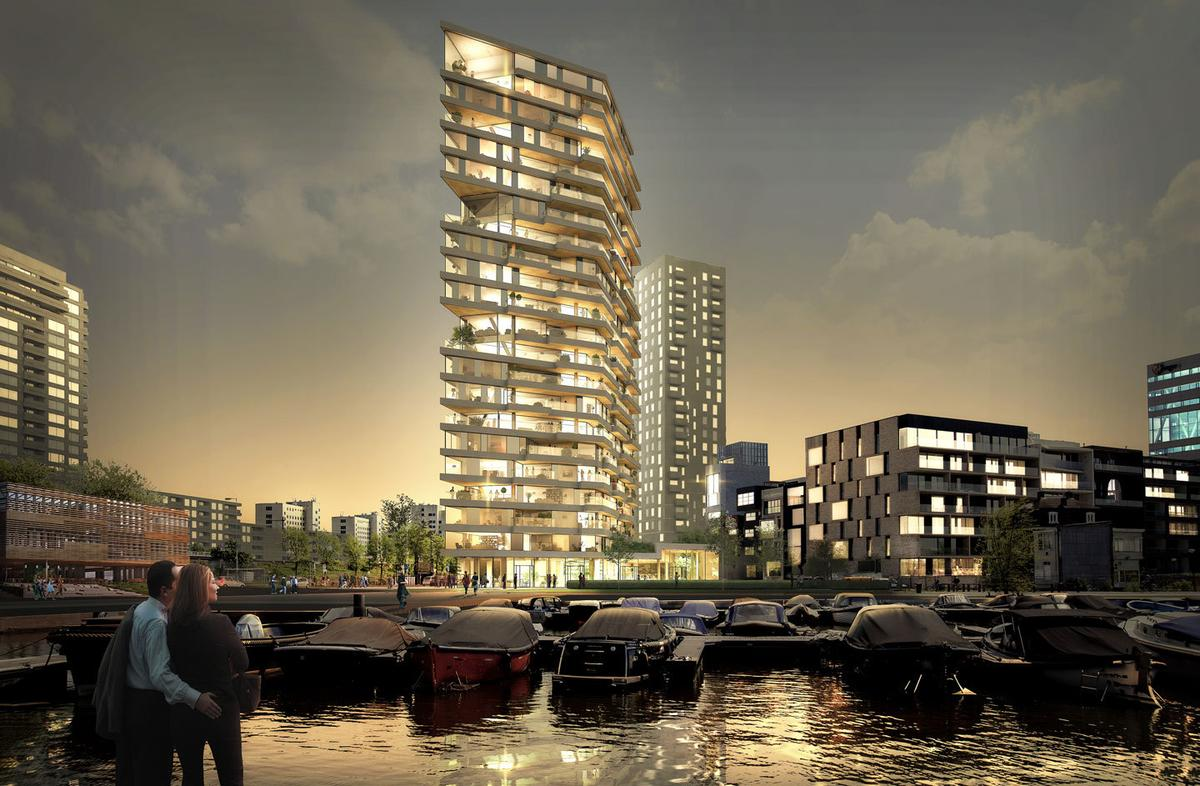 Hautwill rise to a height of 73 m (240 ft) and is expected to be completed by 2019