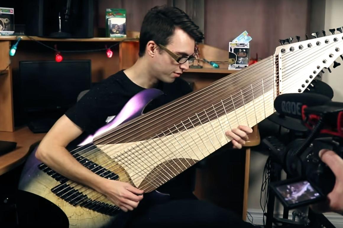 Stevie T playing the custom madeSpring BH Djent 20 Guitar from 10S Guitars