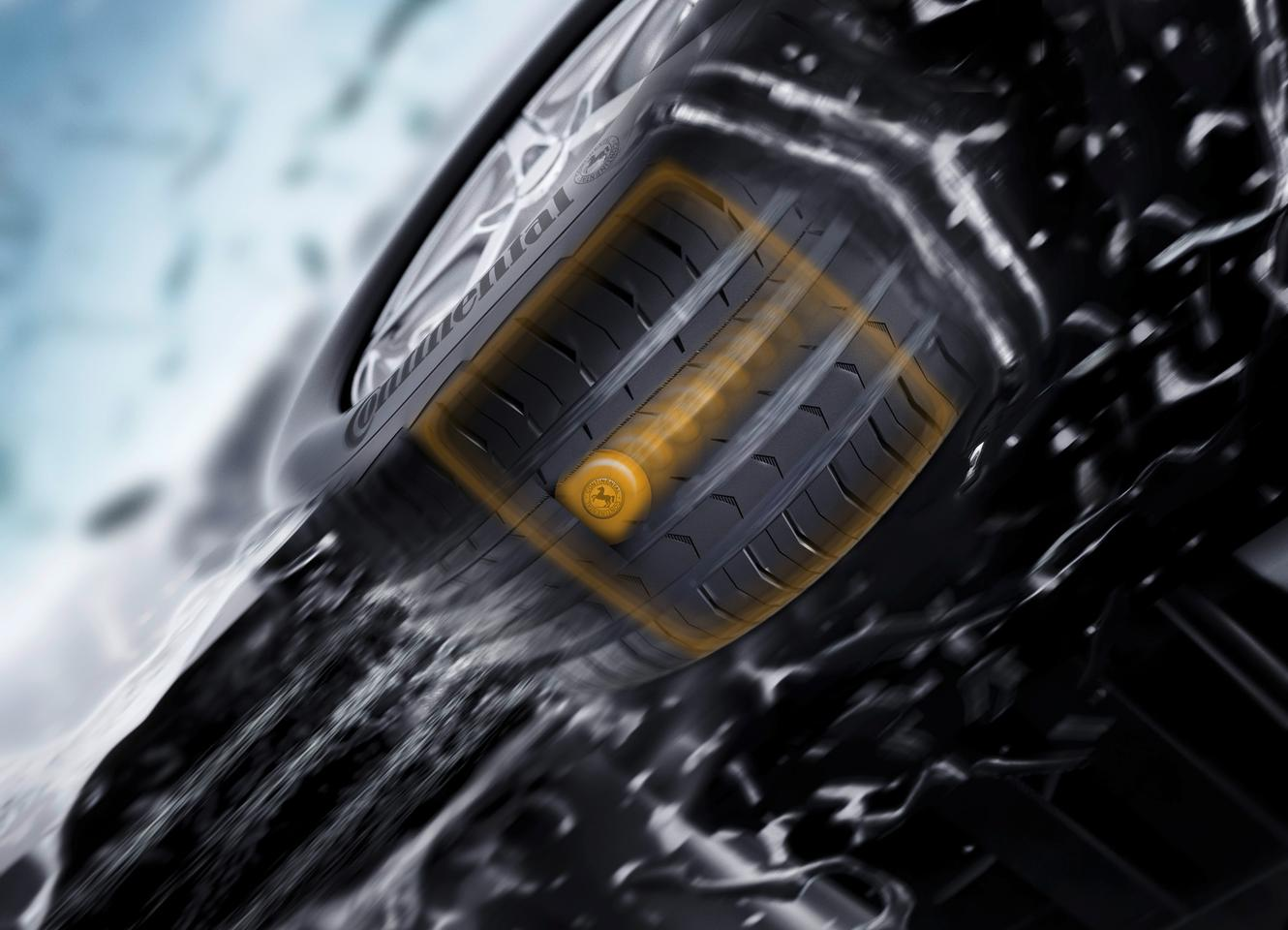 Continental says its future generation tire sensors will accurately detect the size of contact area and calculate the vehicle load