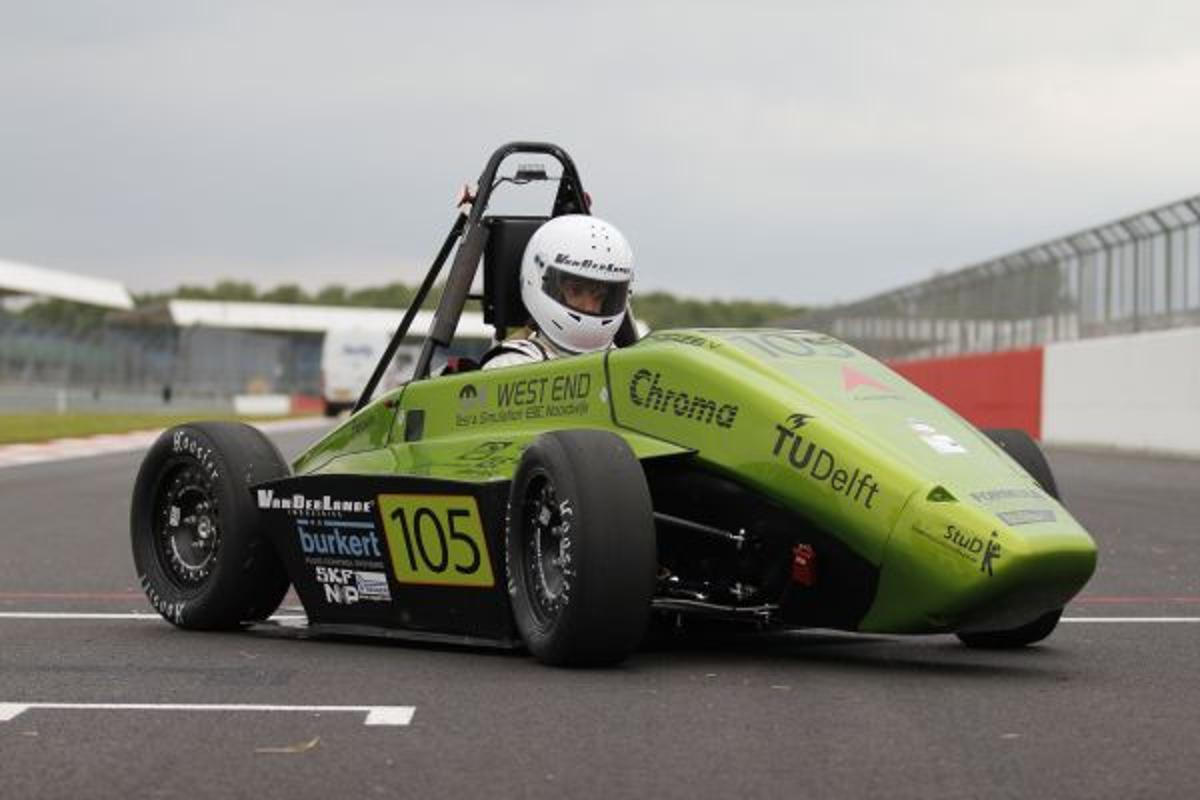 The hydrogen-powered Forze V race car recently competed against gas-powered cars, at the Formula Student race in the UK