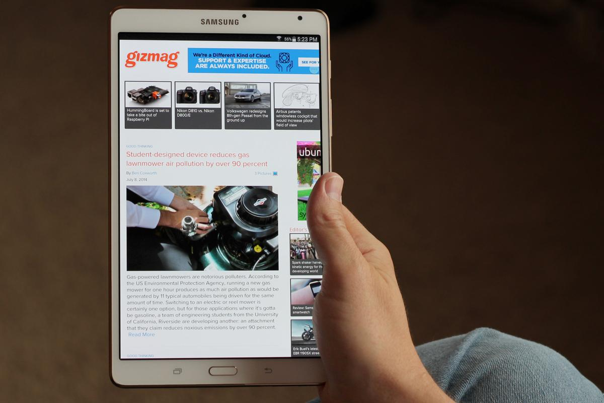 Gizmag reviews the Samsung Galaxy Tab 8.4, an incredibly light and thin tablet with an amazing screen