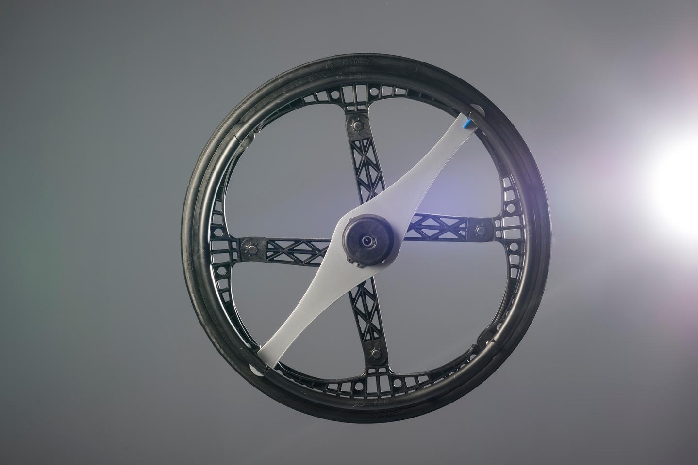The Morph Wheel was originally designed for use with a bicycle