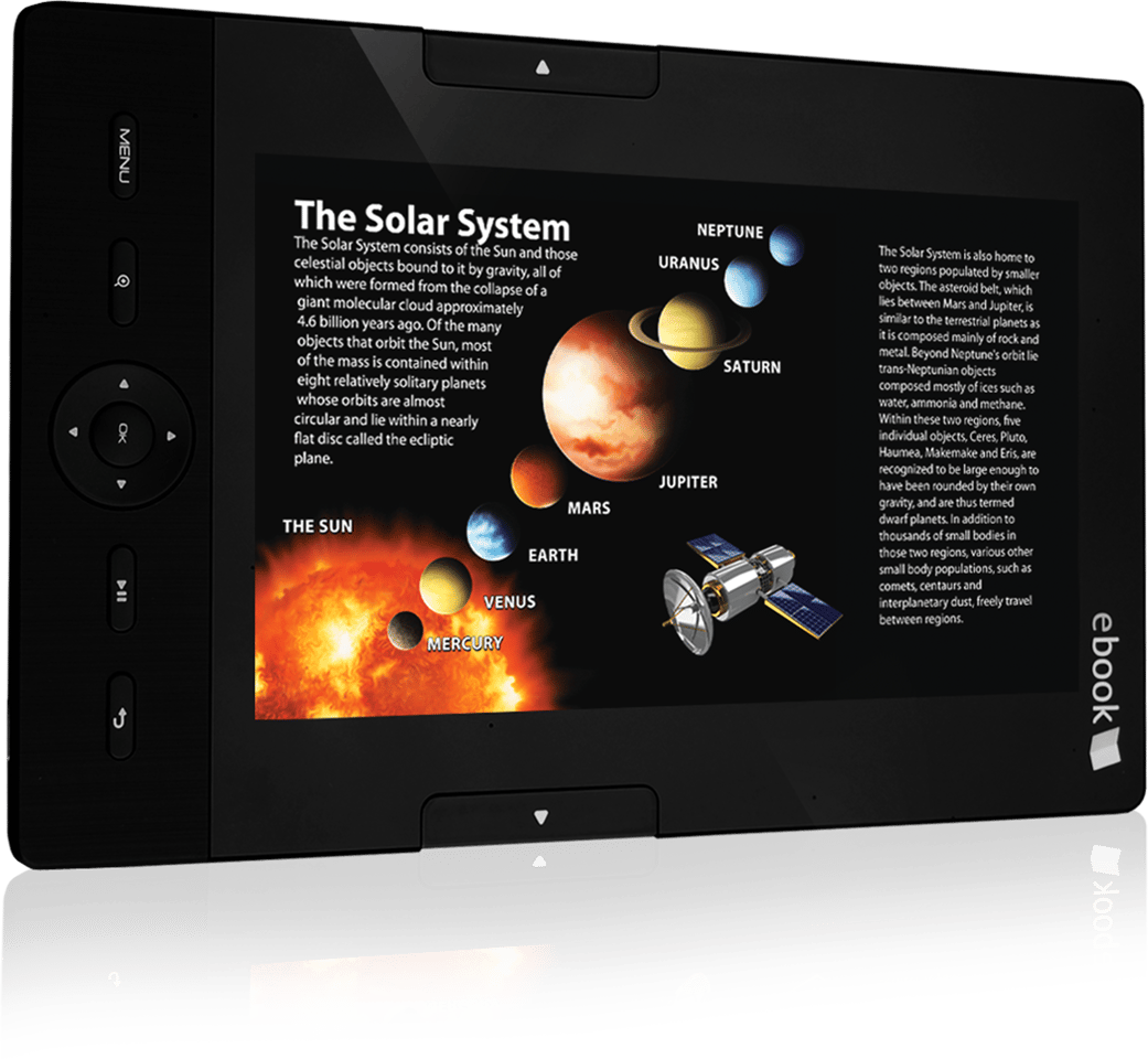 The 700EB showing the solar system
