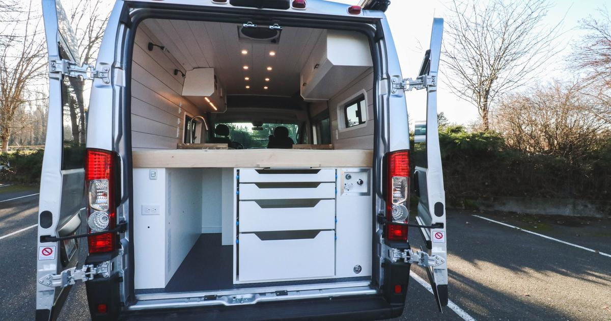 Chongo solar camper van gives off condo vibes with its large kitchen