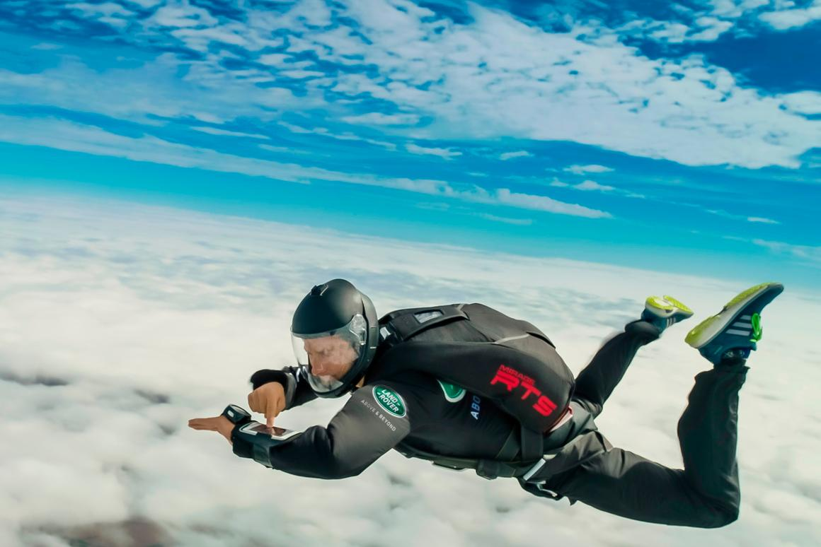 Most Discovery owners will probably use the InControl Remote app in much more serene conditions than Bear Grylls' 125 mph free-falling stunt