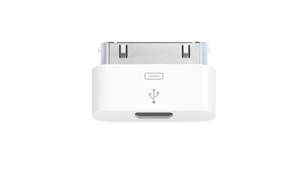 The Apple iPhone Micro USB Adapter that is now available from the U.K. Apple Store