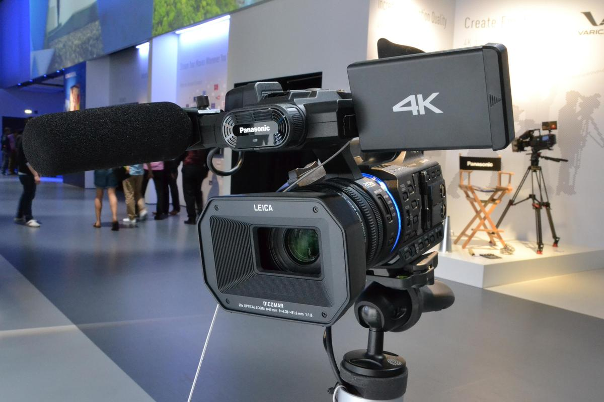 Panasonic's HC-X1000 is the first camcorder capable of recording 4K ultra HD video at 60 fps onto an SD card (Photo: Paul Ridden/Gizmag)