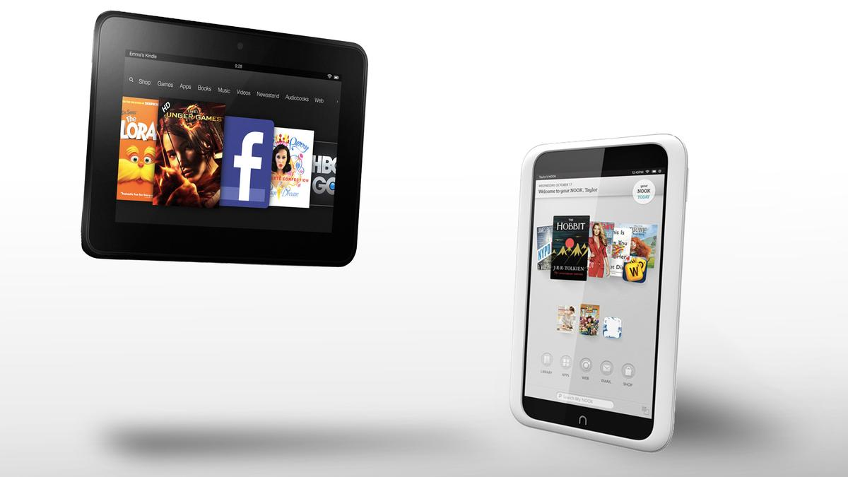 """How does Amazon's Kindle Fire HD (7"""") compare to the Nook HD?"""