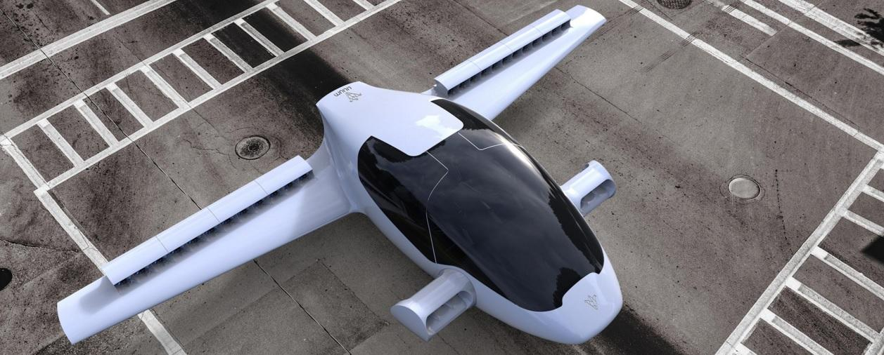 The Lilium Jet aims to be significantly quieter than other VTOL vehicles such as helicopters, thanks to its 320 kW (435 hp) rechargeable-battery-powered ducted fan engines.